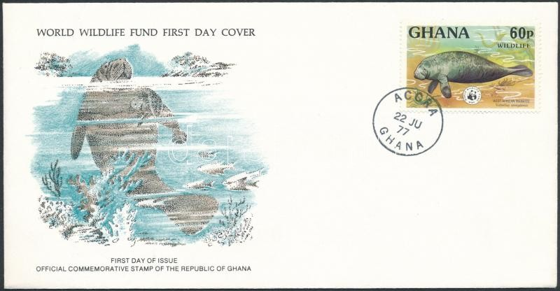 WWF: Seal stamp on FDC, WWF: Fóka bélyeg FDC-n