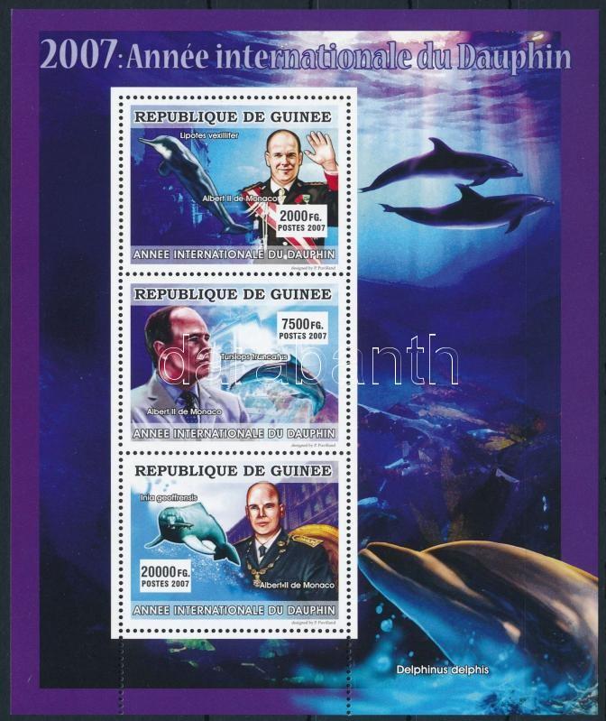 Dolphins years; Prince Albert minisheet, Delfinek éve; Albert herceg kisív
