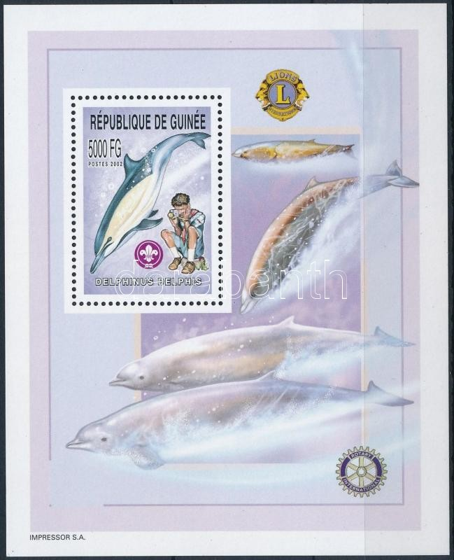 Dolphin, Scouts, Rotary block, Delfin, cserkész, Rotary blokk