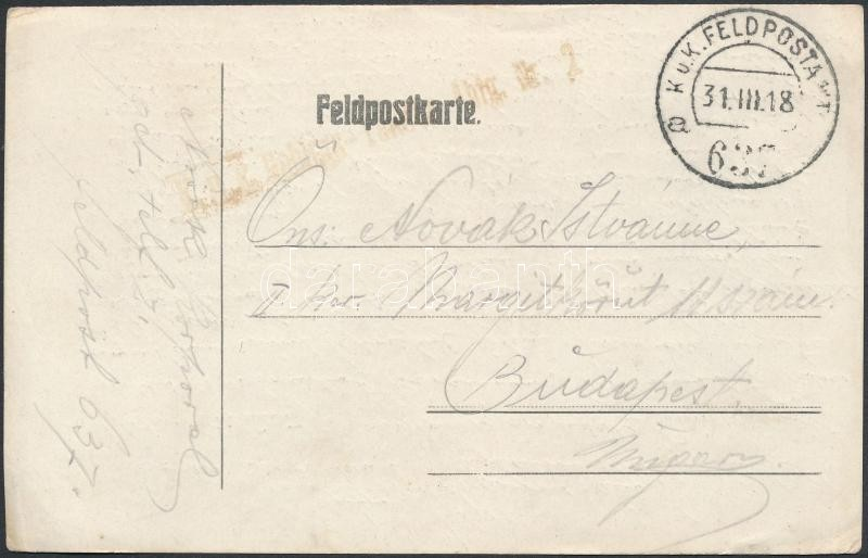 "Austria-Hungary field postcard, Tábori posta levelezőlap ""FP 637 a"""