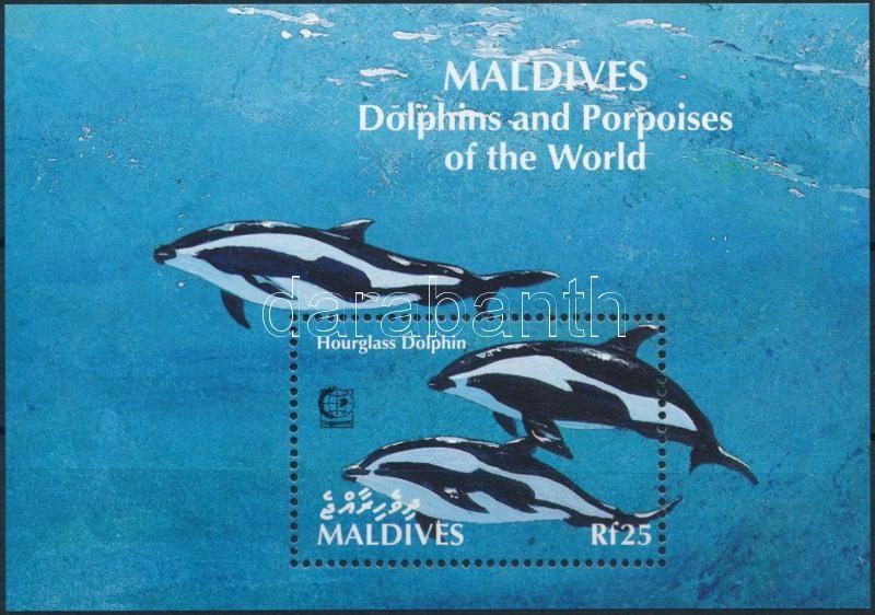 Delfin; Bélyegkiállítás blokk, Dolphins; Stamp Exhibition block