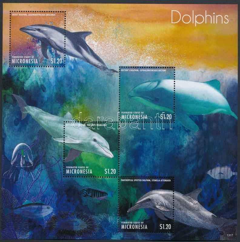 Dolphin mini sheet set, Delfin kisív sor