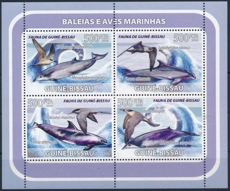 Dolphin and Bird minisheet, Delfin és Madár kisív