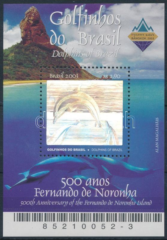 Fernando de Noronha islands, dolphins, holographic foil block, Fernando de Noronha szigetek, delfinek, hologramfóliás blokk