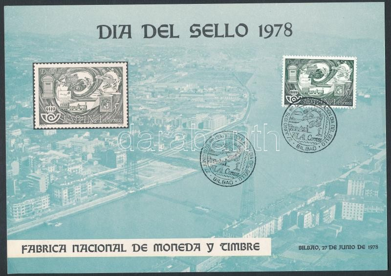 Stamp Day memorial sheet first-day cancellation, Bélyegnap emléklapon elsőnapi bélyegzéssel