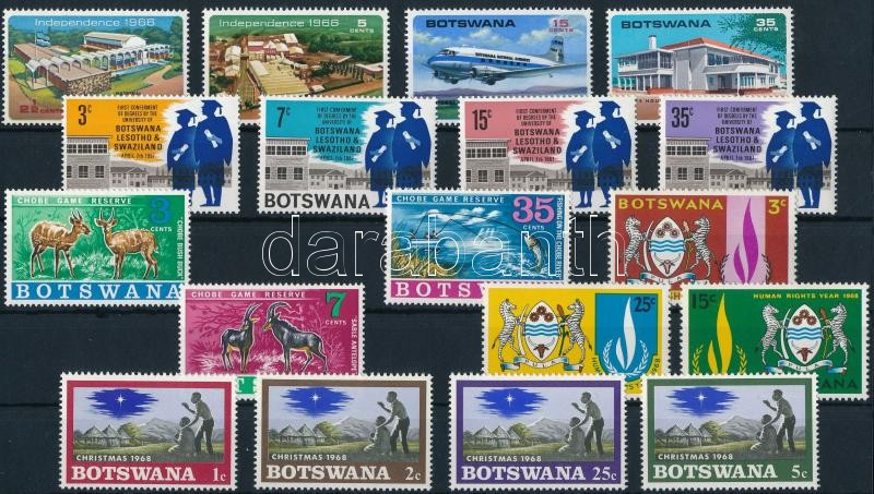 1966-1969 7 sets and 1 block, 1966-1969 7 klf sor és 1 blokk 2 stecklapon