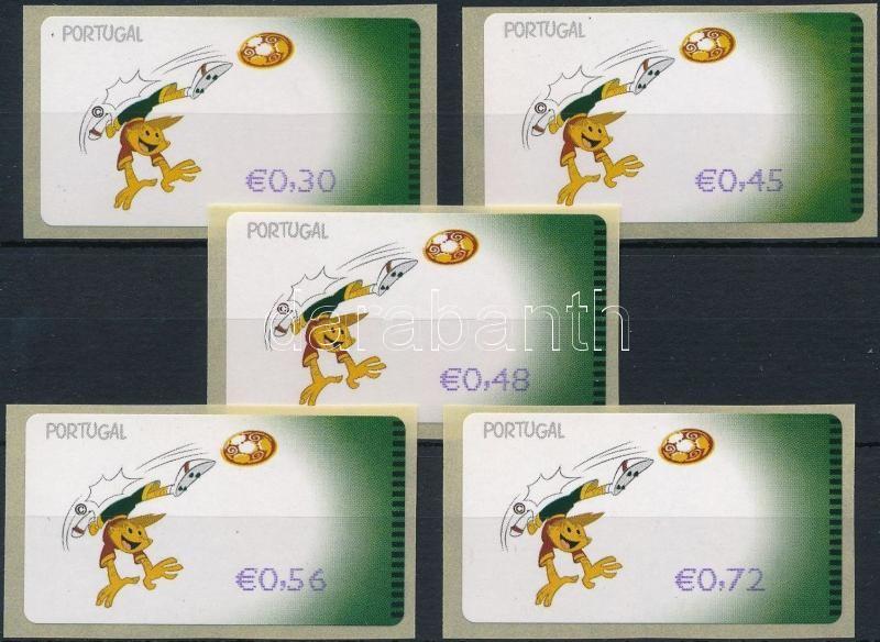 Automatic stamp: Football Championship 5 diff stamps, Automata bélyeg: Labdarúgó EB. 5 klf érték