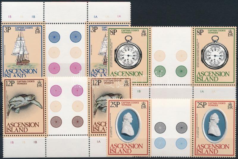 James Cook set sheet-centered pairs, James Cook sor ívközéprészes párokban