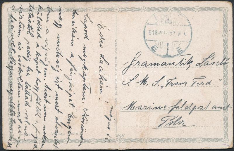 Austria-Hungary field postcard, A Franz Ferdinand hadihajóra küldött képeslap