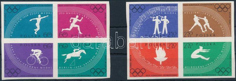 Olympics set in 2 blocks of 4, Olimpia sor 2 db négyestömbben