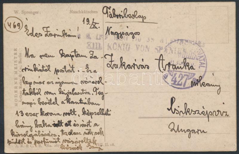 "Austria-Hungary field postcard, Tábori posta képeslap ""TP 427 a"""