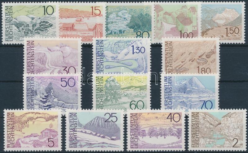 1972-1973 Tájak sorok, 1972-1973 Landscapes sets