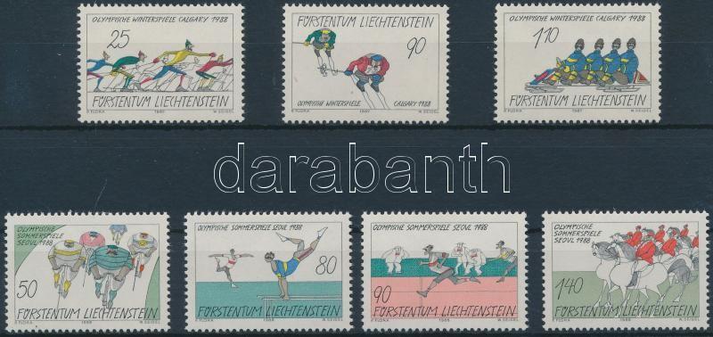 1987-1988 Olympics Games sets, 1987-1988 Olimpiai játékok sorok