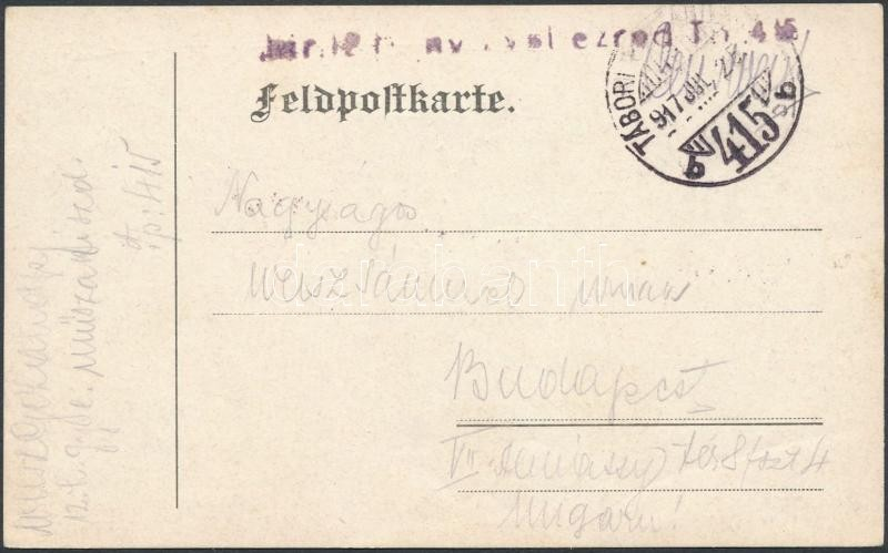 "Tábori posta levelezőlap ""TP 415 b"", Austria-Hungary field postcard"