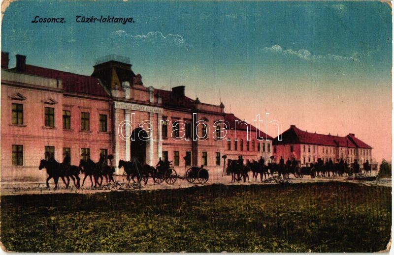 Lucenec, artillery barracks (worn corners), Losonc, Tüzér laktanya (kopott sarkak)