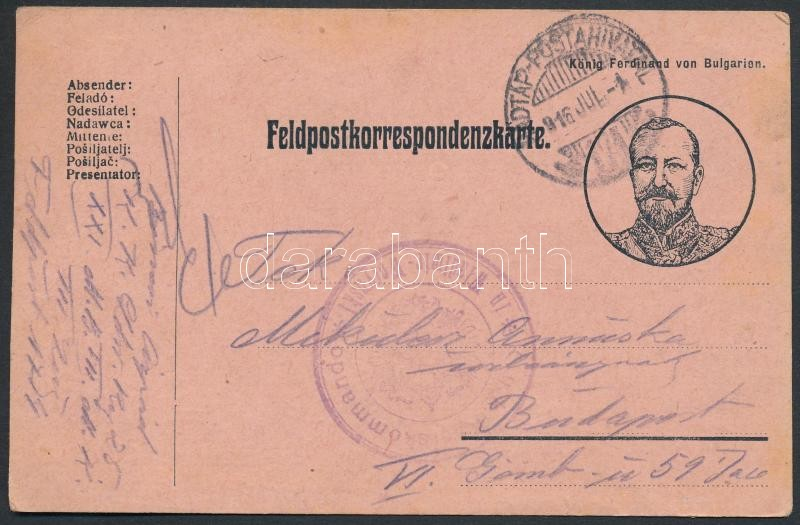 "Austria-Hungary Field postcard, Tábori posta képeslap ""KOMMANDO in Wladimir-Wolynski"" + ""HP 171"""