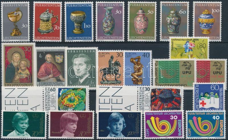 1973-1975 23 stamps, 1973-1975 23 klf bélyeg sorokkal
