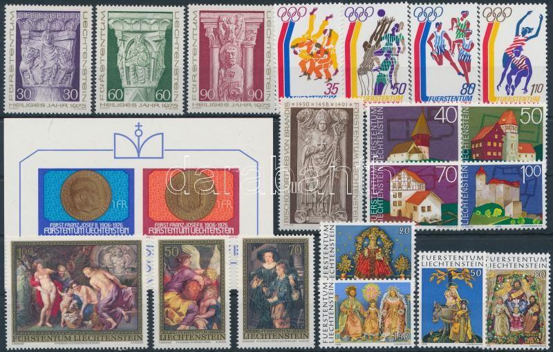 19 stamps + 1 block, 1975-1976 Kis összeállítás: 19 klf bélyeg sorokkal + 1 blokk
