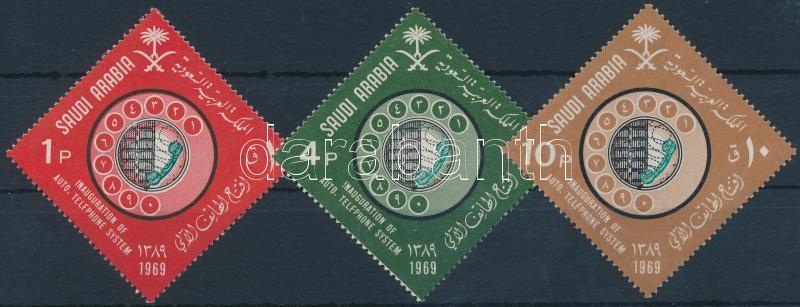 Introduction of automatic switching telephony 3 stamps, Automata kapcsolás bevezetése a telefonálásnál sor 3 értéke