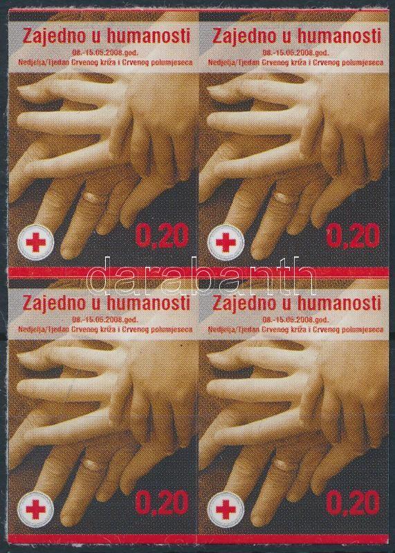 Red Cross self-adhesive block of 4, Vöröskereszt öntapadós négyestömb