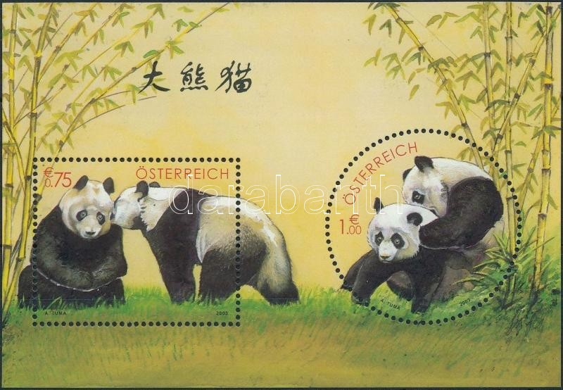 Panda kutatás a Schönbrunni állatkertben blokk, Schönbrunn zoo panda research block