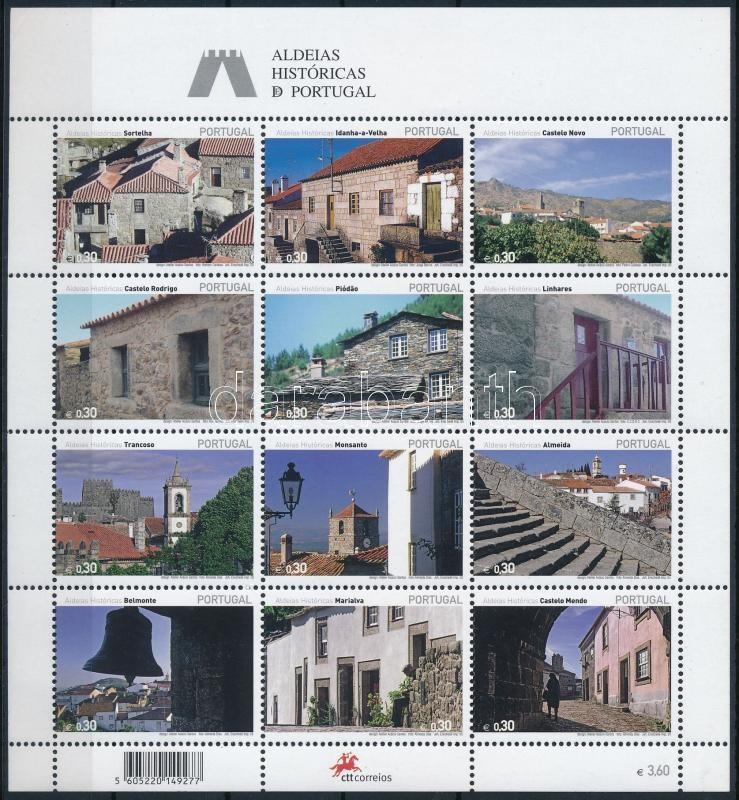 Historic villages mini sheet, Történelmi falvak kisív