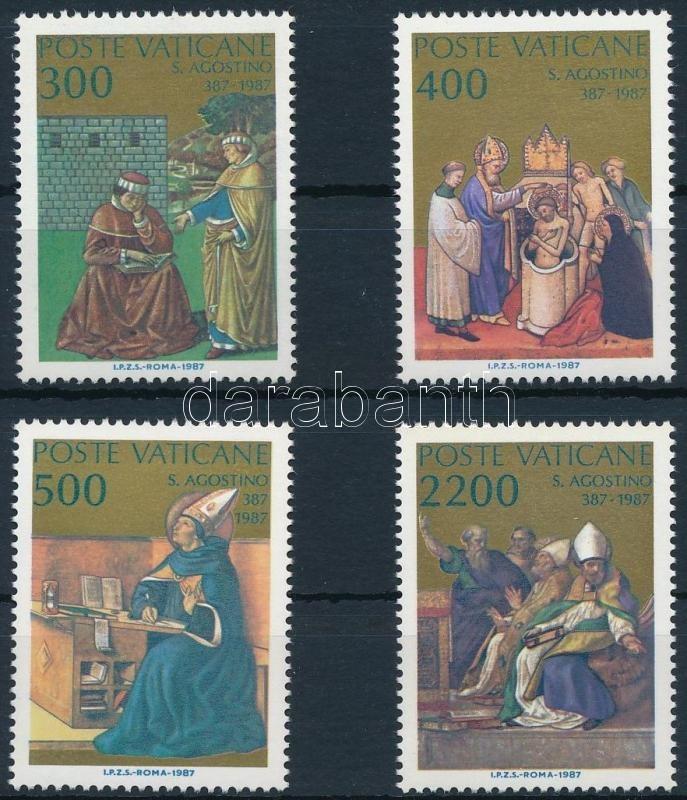 Augustine of Hippo set + 2 FDC, Hippói Szent Ágoston sor + 2 FDC