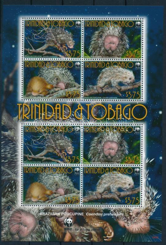 WWF Porcupine mini sheet, WWF: Tarajos sül kisív