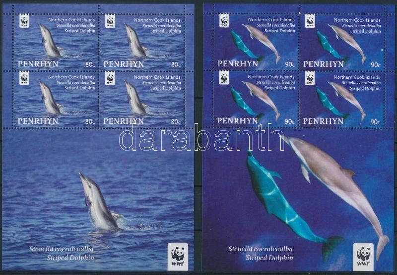 WWF Dolphin mini sheet set, WWF: Delfin kisívsor
