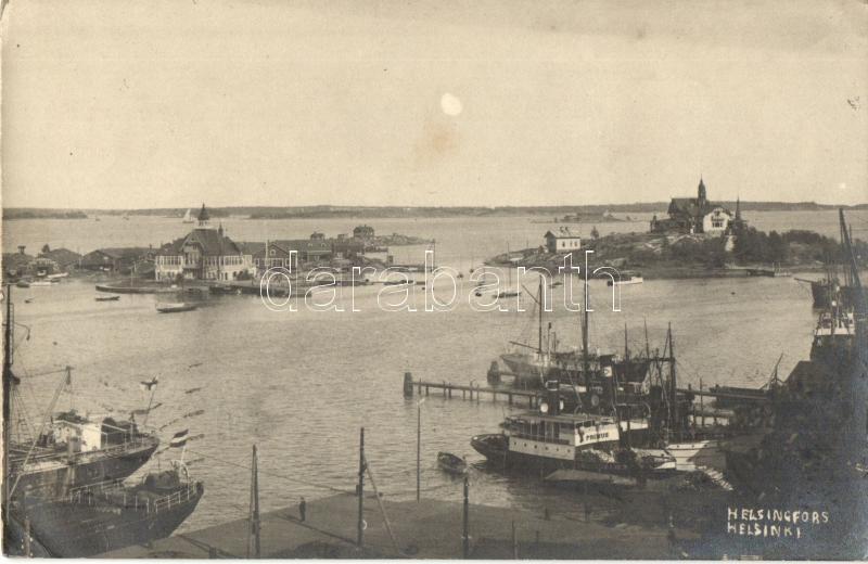 1925 Helsinki, Helsingfors; Port, ships, photo