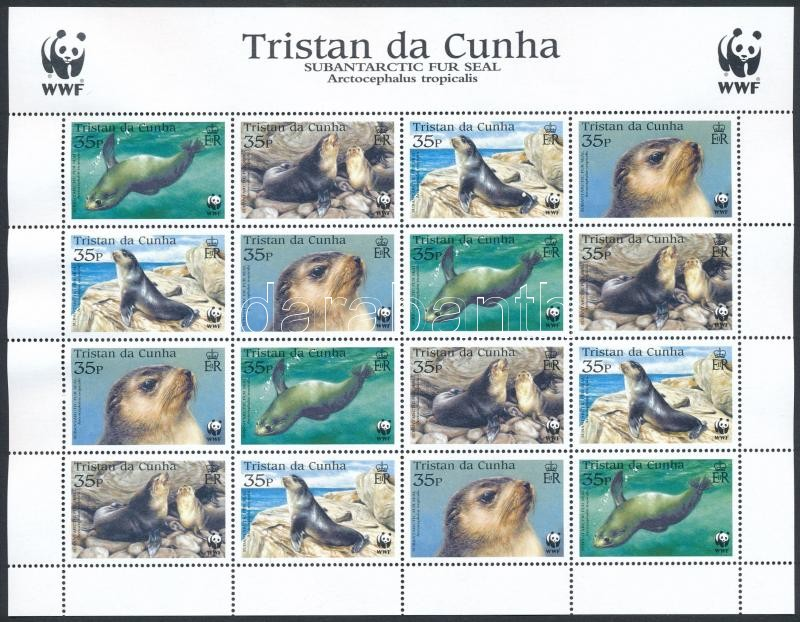 WWF Fur seals mini sheet, WWF: Medvefóka kisív