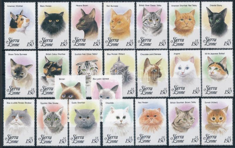 23 Cats stamps, 23 klf Macska bélyeg