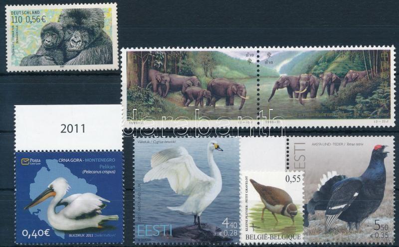 1995-2011 Animals 7 values, 1995-2011 Állat motívum 7 db önálló érték