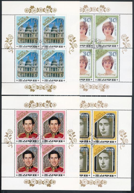 Charles and Diana's wedding mini sheet set, Charles és Diana esküvője kisívsor