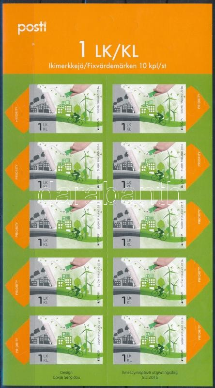 Europa CEPT, Environmental Awareness self-adhesive mini sheet, Europa CEPT, Környezettudatosság öntapadós kisív