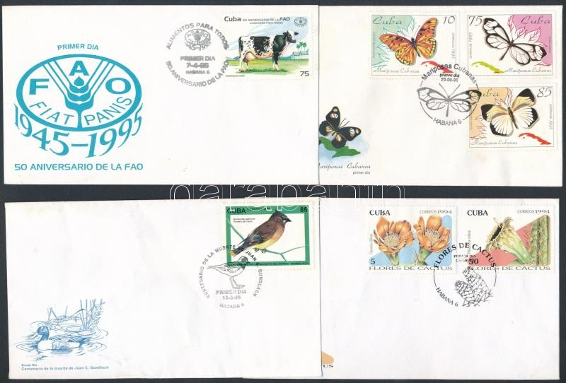 1994-1996 4 diff FDC, 1994-1996 4 klf FDC