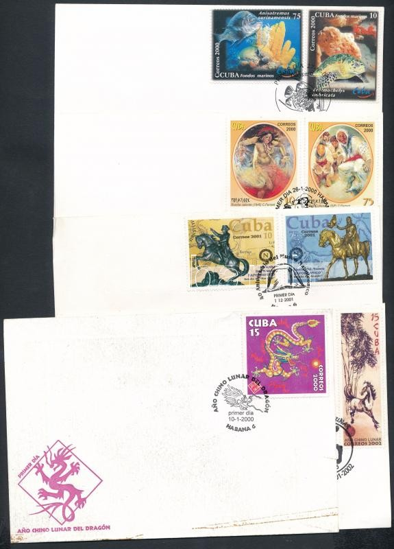 2000-2002 5 diff FDC, 2000-2002 5 klf FDC