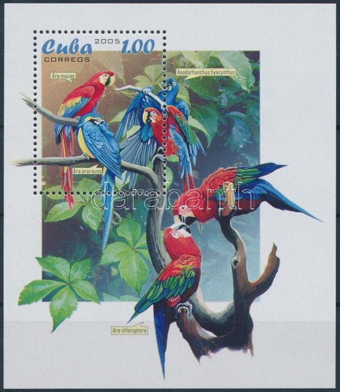 Parrot; Bird block + FDC, Papagáj; Madár blokk + FDC