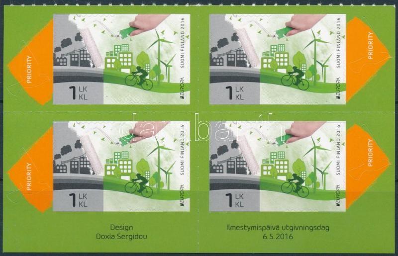 Europa CEPT, Environmental Awareness self-adhesive block of 4, Europa CEPT, Környezettudatosság öntapadós 4-es tömb