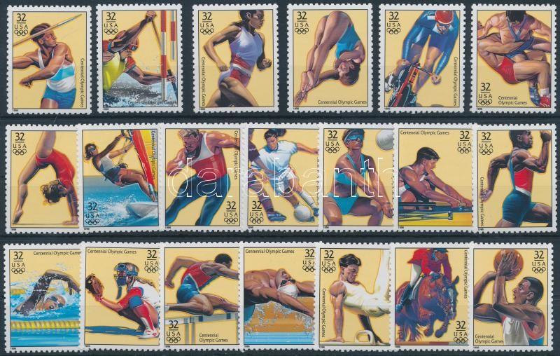1996 100 éves az Újkori Olimpia sor Mi 2705-2724