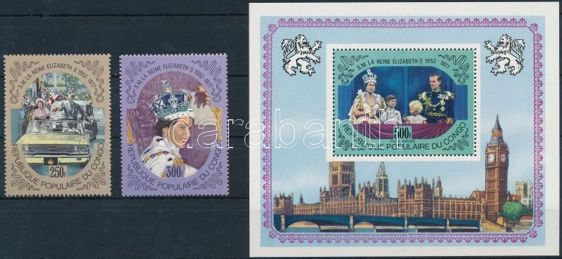 British royal family set + block, Brit uralkodóház sor + blokk