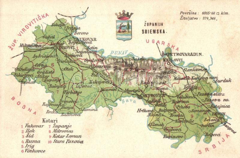 verőce térkép Verőce vármegye térképe / Zupanija Viroviticka / Map of Verőce  verőce térkép