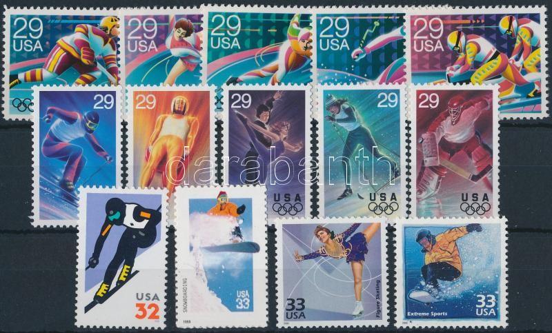 Sport USA 2 sets + 4 stamps, Sport motívum; USA kis tétel: 2 klf sor + 4 klf bélyeg