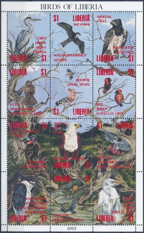 Native birds full sheet, Őshonos madarak teljes ív