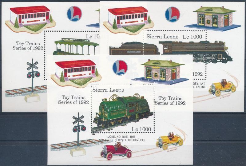 Stamp Exhibition Genova, model trains block set, Bélyegkiállítás GENOVA, modell vonatok blokksor