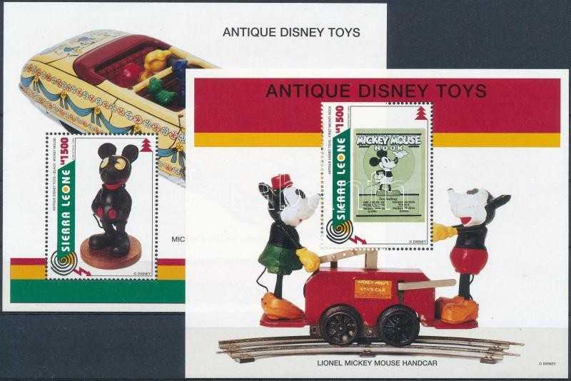 Christmas: Walt Disney toys margin block set, Karácsony: Antik Walt Disney játékok blokksor