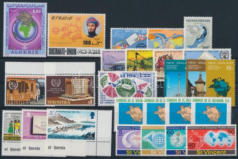 Centenary of UPU 26 stamps, 100 éves az UPU motívum 26 klf bélyeg