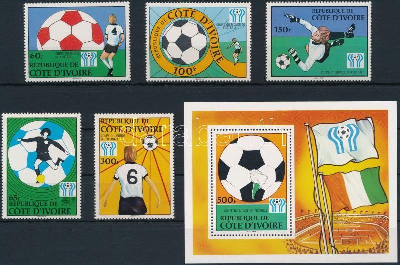 Football World Cup set + block, Labdarúgó világbajnokság sor + blokk
