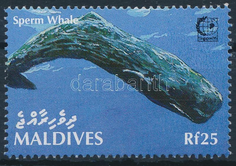 International Stamp Exhibition SINGAPORE '95; Whale stamp, Nemzetközi bélyegkiállítás SINGAPORE '95; Bálna bélyeg