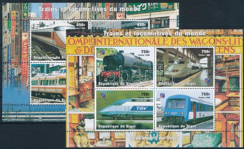 Locomotive 2 unpublished minisheet, Mozdony 2 db kiadatlan kisív